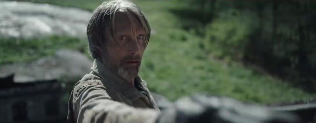 Мадс Миккельсен в роли мэра Прентисстауна, Поступь хаоса, кадр из трейлера