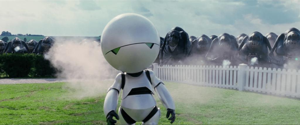 Автостопом по галактике кадр из фильма